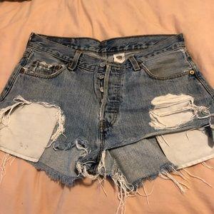 Vintage Levi's Denim Shorts - Distressed